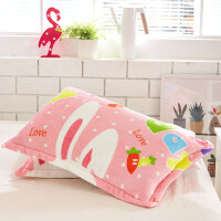 枕头套珊瑚绒枕头套加厚法莱绒枕套双人枕头套单人枕头套 卖萌【枕套 2个】 47cmx74cm