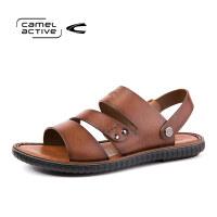 骆驼动感 凉鞋男夏季户外牛皮沙滩鞋时尚凉鞋拖鞋商务休闲凉鞋男士皮凉鞋