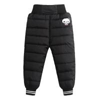 儿童羽绒棉裤男童女童宝宝加厚保暖冬季外穿高腰护肚小童棉裤