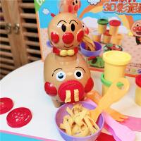 日本面包超人彩泥�^家家面�l�C�o毒手工玩具橡皮泥模工具�和�粘土