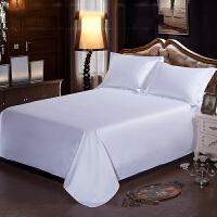 宾馆酒店床上用品白色床单加密加厚床单床罩床笠单件 60支