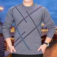 №【2019新款】胖子冬天穿的羊毛衫男胖子中老年人男装圆领毛衣加肥加大码针织衫