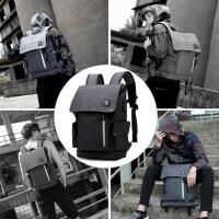 时尚潮流双肩包男个性背包男韩版旅行15寸电脑包休闲简约学生书包