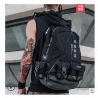 户外运双肩背包男 包个性学生书包女电脑包大容量旅行旅游登山