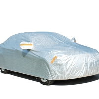 东风日产新骐达专用汽车车衣 防晒防雨防尘遮阳盖布隔热车罩车套 铝箔全罩- 银白色