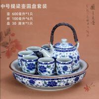 陶瓷茶具套装家用整套青花瓷中式复古喝茶茶壶简约大号 一件