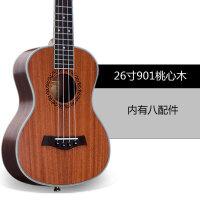 23寸尤克里里初学者21寸桃花心木手工小吉他四弦琴学生女a178
