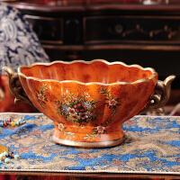 欧式奢华台面仿真花插花器高档家居台面花瓶花插样板房装饰品摆件