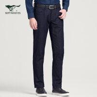 【加绒款】七匹狼男装牛仔裤男士时尚休闲舒适裤子男裤