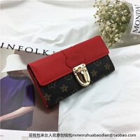 新款女士钱包长款日韩版多功能锁扣软皮夹复古欧美百搭大气手拿包