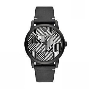 Armani阿玛尼新款时尚潮流男士手表 纹路表盘皮带石英表AR11136