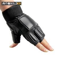 户外特种兵战术手套格斗手套皮手套手套 骑行半指手套