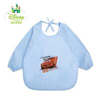 迪士尼Disney宝宝防水罩衣婴儿罩衣透气 竹纤维吃饭衣153P678