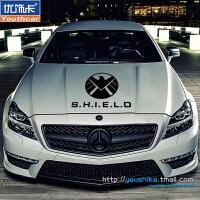 品牌车贴 特工汽车装饰贴纸 联盟反光贴花 汽车用品 12引擎盖贴 黑色