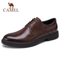 camel 骆驼男鞋 秋季新款商务正装皮鞋柔软牛皮德比鞋休闲皮鞋男