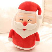 圣诞老人玩偶公仔麋鹿毛绒玩具靠垫抱枕暖手捂圣诞节生日礼物女生