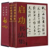 启功书法全集 铜版纸精装彩印16开共2卷 中国现代名家字帖