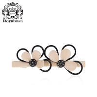 皇家莎莎发饰时尚头饰韩国版横夹花朵发夹弹簧夹顶夹马尾夹发卡子