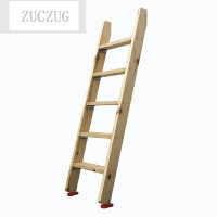 ZUCZUG木梯子直梯高低床上下铺梯家用防滑室内外单登高梯实木质阁楼楼梯