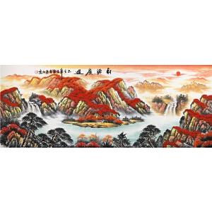 国家一级美术师 王朝016 《财源广进 》175*65cm.纸本软片,品如图。
