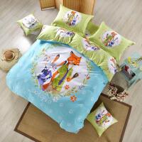 卡通��狂�游锍� 四件套�和�床上用品�W生床�稳�件套
