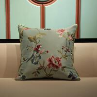 锦绣杭韵中式沙发刺绣花抱枕红木沙发中国风靠垫欧式床头大靠枕套 60X60cm (抱枕+内芯)