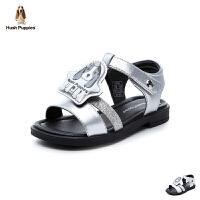 暇步士Hush Puppies童鞋18新款儿童凉鞋女童小狗鞋舒适大底夏款休闲鞋(5-10岁可选) DP9344