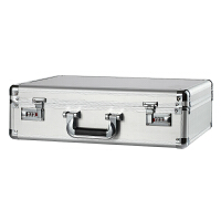 带锁密码收纳箱铝合金储物箱整理证书文件证件保险盒子小号大容量