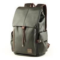 韩版男士双肩背包pu皮潮流背包大容量旅游背包旅行包商务电脑包