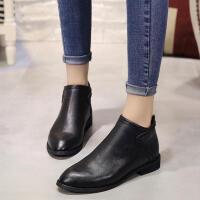 乌龟先森 马丁靴 冬季新款潮流女欧美百搭低跟加棉短靴-