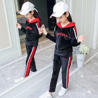 童装女童秋装套装中大童休闲运动两件套女孩洋气时髦潮衣