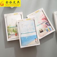 金谷韩国活页手账本创意绑带笔记本子文具小清新手帐手绘日记本