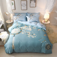 床上四件套纯棉公主风床单被套被罩1.5/1.8m床2.0米床品套件