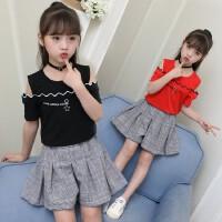 女童夏装新款儿童裙子套装韩版洋气中大童小女孩衣服