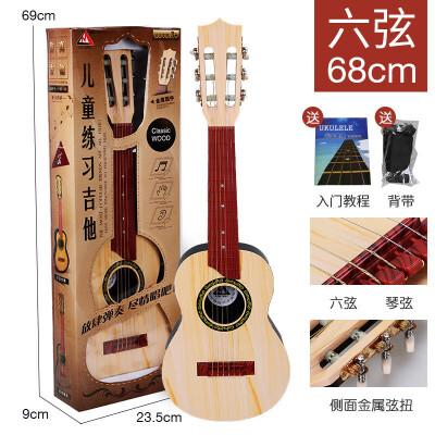 ?尤克里里初学者儿童吉他玩具可弹奏四六弦 男孩女孩仿真音乐乐器?