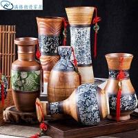 中式摆件家居装饰一片冰心仿古中式陶瓷木质民族花瓶古典摆件开业办公桌博古架古典
