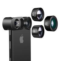 三合一套装iPhone苹果安卓通用单反高清鱼眼微距人像镜头演唱会拍照2倍望远镜头广角手机长焦镜头
