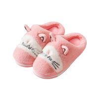 冬季可爱卡通亲子棉拖鞋男女士室内居家情侣包跟保暖家居儿童拖鞋
