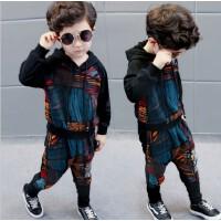 男宝宝时尚秋季运动套装男童装小男孩秋天个性衣服潮