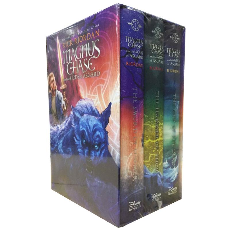 Magnus Chase and the Gods of Asgard 英文原版 马格努斯·切斯与北欧神话1-3套装 精装收藏 Rick Riordan