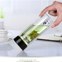 素水susui商务玻璃杯 经典清雅玻璃杯 礼品促销杯子 创意清雅杯子