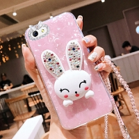 苹果6手机壳iphone6s套ihones6兔子ipong6带挂绳六硅胶软pone6s女