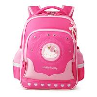 Hello Kitty凯蒂猫 KT1119玫红女小学生护脊减负书包彩盒装 当当自营