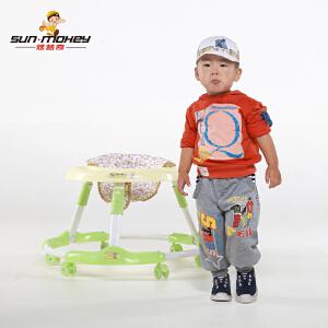 【当当自营】炫梦奇婴儿学步车 坐垫可调节 可折叠 PU静音轮 青草绿