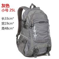 双肩包女旅行背包旅行包时尚户外背包登山包 灰色 小