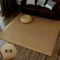 地毯卧室榻榻米宝宝爬行地垫藤编冰丝凉席毯日式夏季藤席地毯客厅