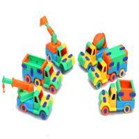 ?儿童玩具工程车飞机拼图拼插拼装3-4-5-6周岁幼儿园生日? 6款车 共6只 颜色随机