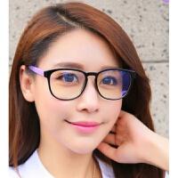 2018年抗新款疲劳防护辐射眼镜女蓝光护目圆脸可爱韩国看电脑保护眼睛的眼镜