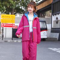 雨衣电动车单人加厚反光条男款女款户外雨衣雨裤分体套装双层 X