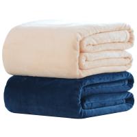 珊瑚绒毯子毛毯加厚法兰绒床单秋冬季单双人纯色盖毯休闲毯子